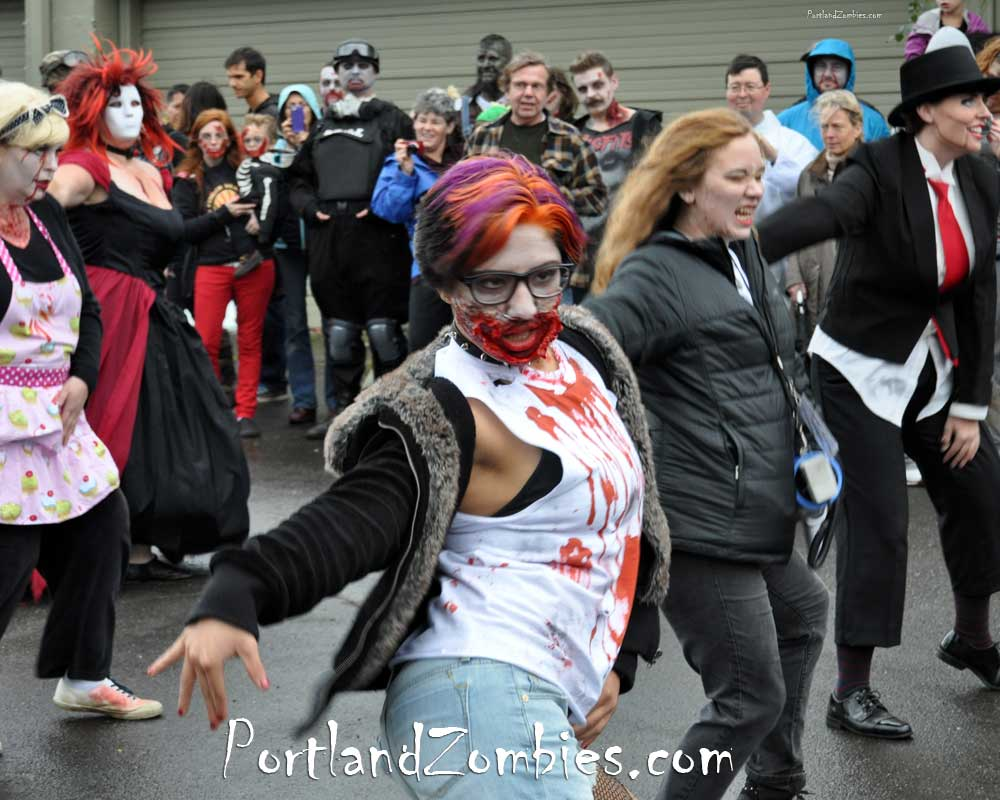 Zombies Dance to Thriller